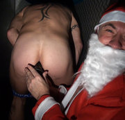 twink suck xxl dick of santa claus in glory holes
