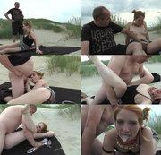 Am Strand erwischt und abgefickt