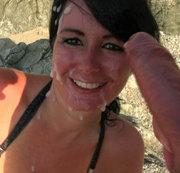 ALEXANDRA-WETT: Public-Gesichtsbesamung XXL vom Fremdschwanz am Strand. Download
