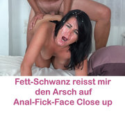 Anal-Orgasmus- Fick-Face close up + Mega Doppelbesamung