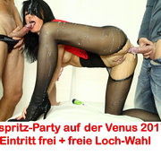 Abspritz-Party im Clubraum der Venus-Messe 2017