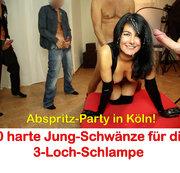 ALEXANDRA-WETT: Abspritz-Party in Köln. 10 dicke Schwänze für die Latex-Schlampe Download