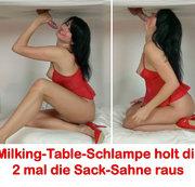 ALEXANDRA-WETT: Milking-Table-Schlampe holt dir 2 mal die Sack-Sahne raus! Download