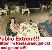 ALEXANDRA-WETT: Public extrem! Mitten im Restaurant gefickt 3x gespritzt! Download