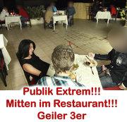 Public XXL! After Work Fuck im Restaurant 2 Schwänze, 5x gespritzt.