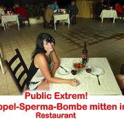 ALEXANDRA-WETT: Public Extrem! Doppelte Spermabombe mitten im Restaurant Download