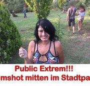 ALEXANDRA-WETT: Public extrem! Cum-Shot mitten im Stadtpark. Usertreff! Download