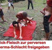 Fick-Fleisch zur perversen Sperma-Schlacht freigegeben