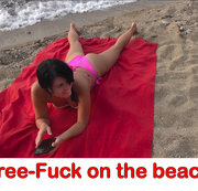 Frei-Fick am Strand! Meine Fotze ist für alle da!