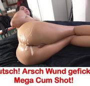 Autsch! Arsch Wund gefickt! Mega Cum Shot!