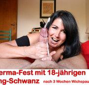 Sperma-Fest mit 18-jährigen Jung-Spritzer! 9 Spritzer!