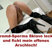 ALEXANDRA-WETT: Fremd-Sperma Sklave leckt und fickt mein offenes Arschloch! Download