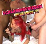 Perverse Orgie - hier spritzt jeder in meine Fotze !!!