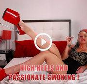 High Heels und leidenschaftliches Rauchen!