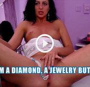 Ich bin ein Diamant, ein Schmuck, aber meine Perlen im Inneren fühlt sich so gut !!!