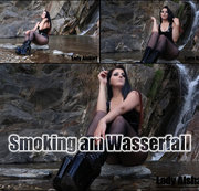Smoking am Wasserfall
