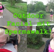 Outdoor Blowjob mit Spermawalk!