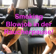 Smoking Blowjob in der Raucherpause!