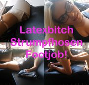 Latexbitch Strumpfhosen Footjob!