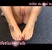 Fußfetisch-Talk..na willst du mal lecken?