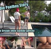 Die Poolboy Story. Im Urlaub ohne Gummi gefickt