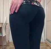 54 Yoga pants wedged in my ass