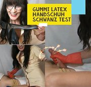 GUMMI LATEX SCHWANZ HANDSCHUH TEST