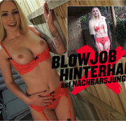BLOWJOB-HINTERHALT  AUF NACHBARSJUNGEN  | LUCY CAT