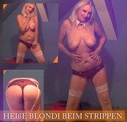 Heiße Blondi beim Strippen!