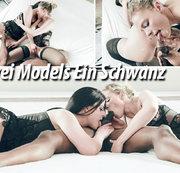Zwei Models Ein Schwanz