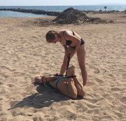 Hogtie at the beach
