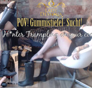 POV Gummistiefel Sucht! H*unter trampling on your COCK!   | by Lady_Demona