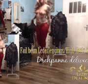FAIL beim oben OHNE Lederleggings High Heels Walk| by Lady_Demona
