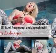 CEI & Joi! Ausgesaugt und abgeschluckt! 13 Ladungen Cum für Spermafresser! | by Lady_Demona