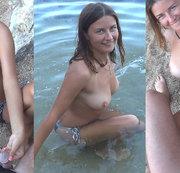 Der Stiefschwester muss am Strand pinkeln
