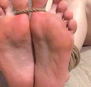 X-mas tied toe Foot Fetish