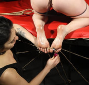 Wicked tickling in dungeon for Ann