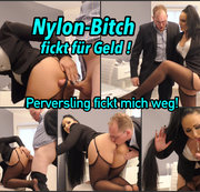 Nylon Bitch fickt für die Police !! pervers?
