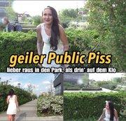 geiler Sommer Piss - mitten im Stadtpark!