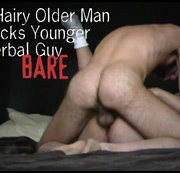 Hairy Older Man Fucks Younger Verbal Guy Bare