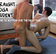Straight Yoga student learns how to bottom from Yogi.