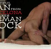 Beautiful Man from Barcelona takes German Cock