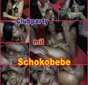 Partyspaß mit Schokobebe und blonder Freundin
