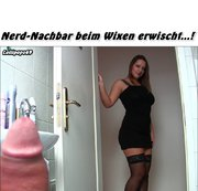 Nerd-Nachbar beim Wixen erwischt...!