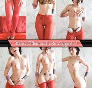 Meine Titten und rote Leggins:-))