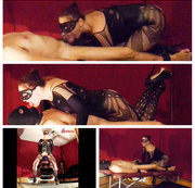 Mistress Sadistra's caged cock - teasing and denial pleasure
