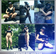 Paintball mit sexy Frau