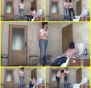 Perverse wet jeans games of married couple