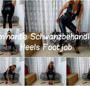 Dominante Schwanzbehandlung-Heels Footjob
