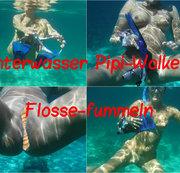 Unterwasser Pipi-Wolke 6, Flosse-fummeln
